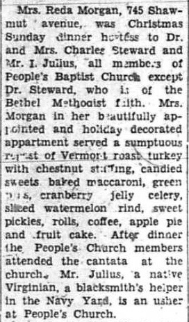 Boston Guardian article from Dec. 30, 1944 that mentions Tiberius Julius.