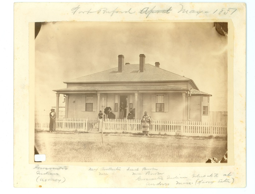 Group in Front of Major D H. Brotherton's House, Fort Benford