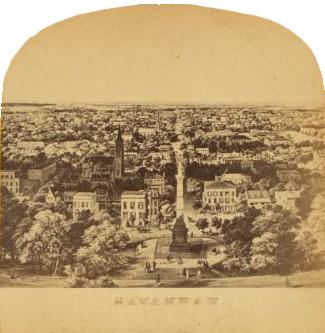 Photograph overlooking Savannah, Georiga.