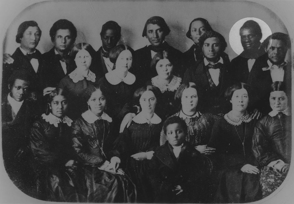 Anthony Burns (highlighted) at Oberlin College with his classmates