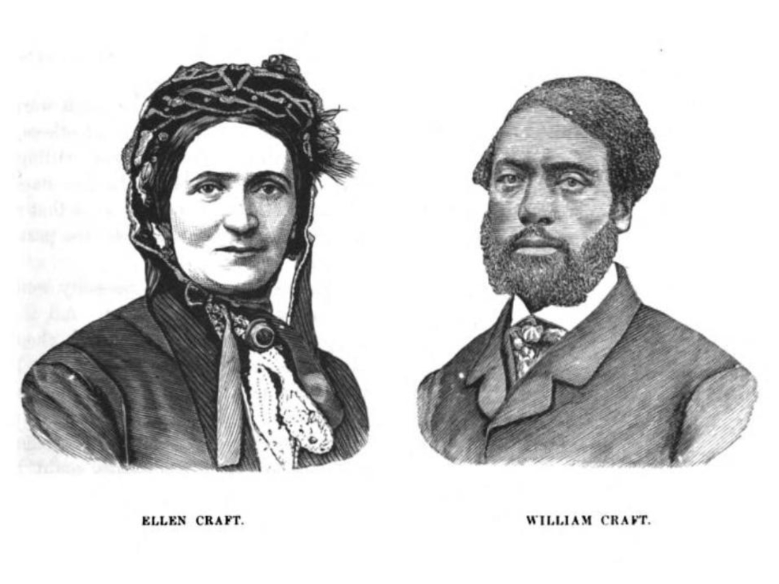 Print portraits of Ellen and William Craft