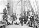 The Rathdown crew, San Francisco Maritime National Historical Park, 1892.. Exact date unknown. Pictured: some of the officers, apprentices and crew of the British square-rigged ship, the Rathdown. This photo was taken in San Francisco in 1892 after the crew had completed a six-month voyage around Cape Horn from Belfast, Ireland. The Rathdown was built in Ireland in 1891 and was 30-feet longer, 11-feet wider and 400-tons bigger than the Balclutha. This ship was last seen leaving Yokohama, Japan on October 4, 1900. Image K9.28,157.