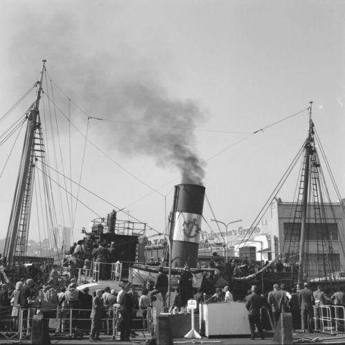 Sample photographs of Eppleton Hall (tugboat) arriving in San Francisco from Newcastle, England, March 24, 1970