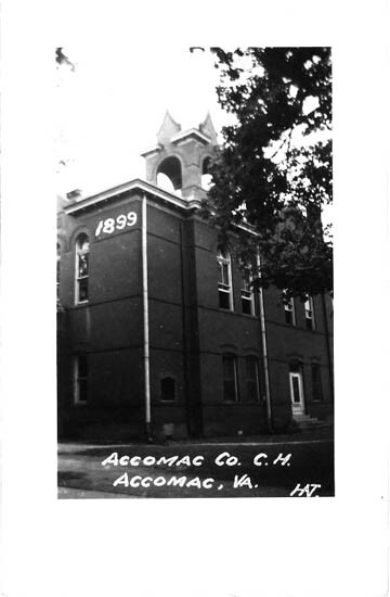 A postcard of the Accomack County Court House, 1899.