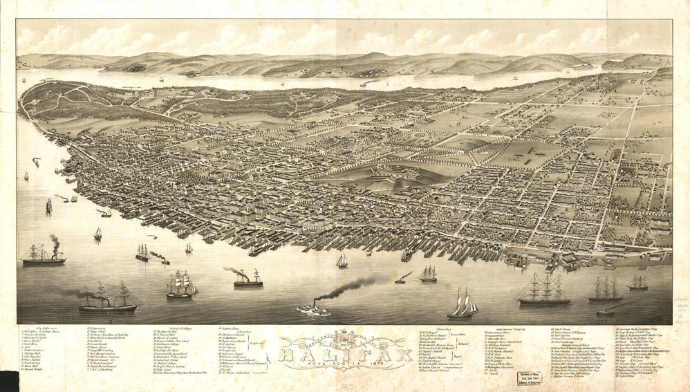 Aerial view of Halifax, Nova Scotia.