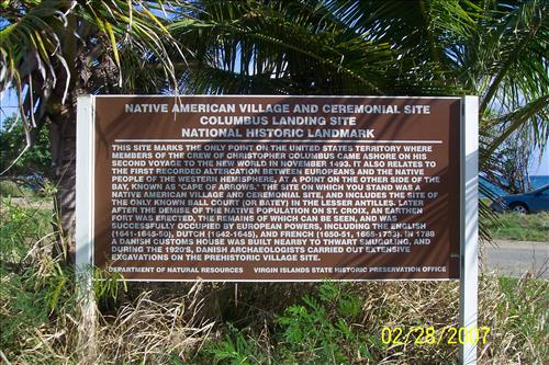 Columbus landing and ball court site at Salt River Bay National Historical Park and Ecological Preserve in February 2007