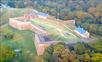 Aerial view, Fort Washington Park, 2015..
