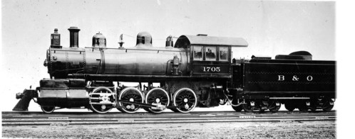 Baltimore & Ohio no. 1705 [2-8-0]