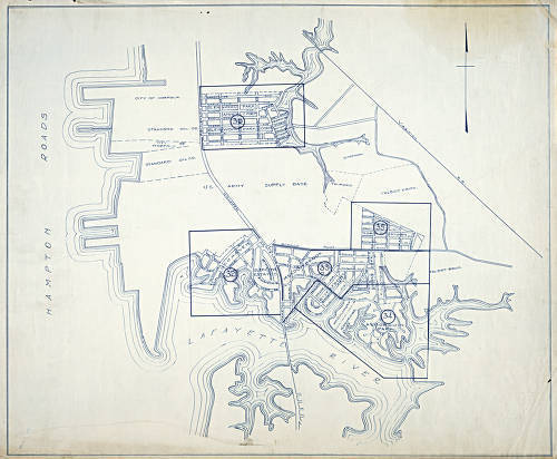 1923 index map for Norfolk, Virginia and surrounding areas.