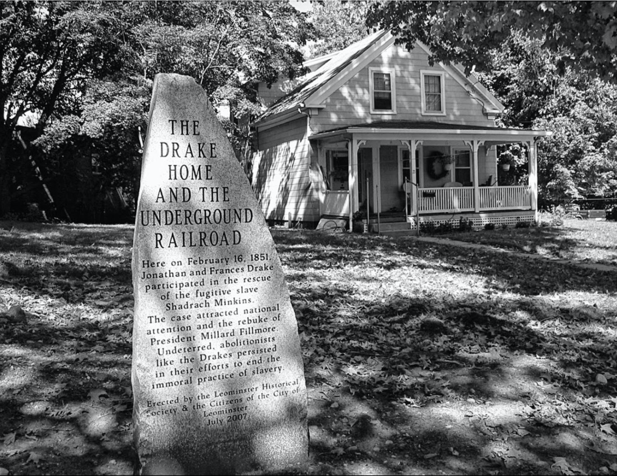 Photograph of the Drake House in Leominster, MA.