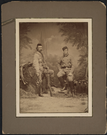 "Portrait of General George Armstrong Custer with the Grand Duke Alexis Alexandrovich. LIBI_00019_00269; An albumen photograph, mount and with two mats (with bronze inner edge); portrait General George A. Custer and the Grand Duke Alexei Alexandrovich, in a standing view; by Howell, New York; dated circa 1872.; Print, Photographic [With Mat]; Courtesy of the National Park Service, Little Bighorn Battlefield National Monument, LIBI_00019_00269, William R. Howell, ""Portrait of General George Armstrong Custer with the Grand Duke Alexis Alexandrovich,"" circa 1872"