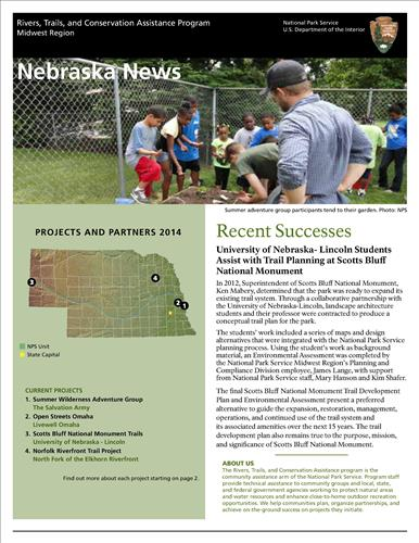 RTCA 2014 Nebraska News. This brochure provides information about the current projects and recent successes.
