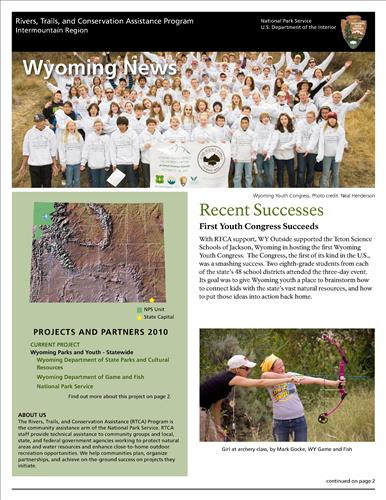 RTCA 2010 Wyoming News. This brochure provides information about the current projects and recent successes.