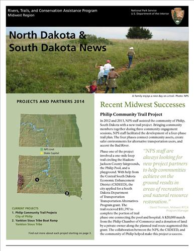 RTCA 2014 North Dakota and South Dakota News. This brochure provides information about the current projects and recent successes.