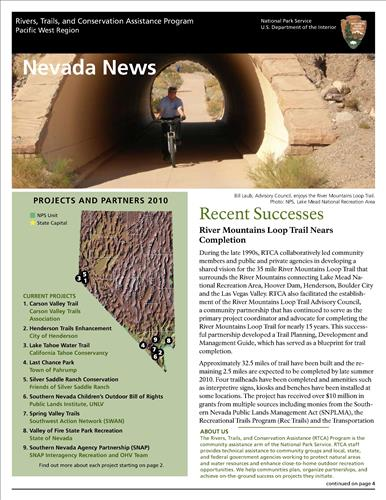 RTCA 2010 Nevada News. This brochure provides information about the current projects and recent successes.