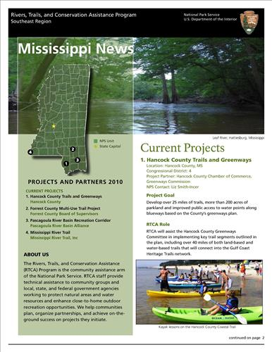 RTCA 2010 Mississippi News. This brochure provides information about the current projects and recent successes.