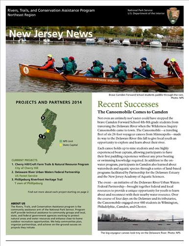 RTCA 2014 New Jersey News. This brochure provides information about the current projects and recent successes.