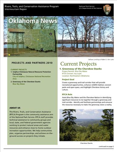 RTCA 2010 Oklahoma News. This brochure provides information about the current projects and recent successes.