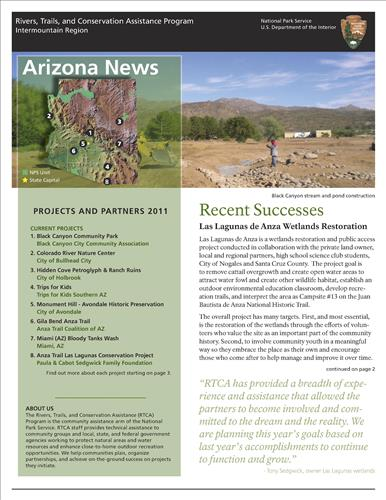 RTCA 2011 Arizona News. This brochure provides information about the current projects and recent successes.
