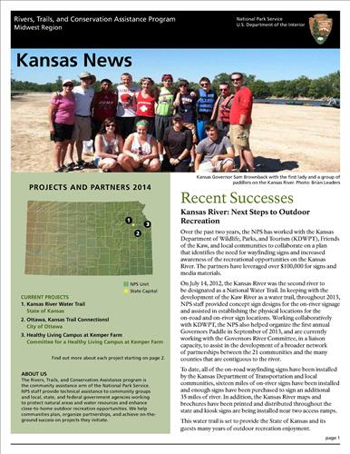 RTCA 2014 Kansas News. This brochure provides information about the current projects and recent successes.