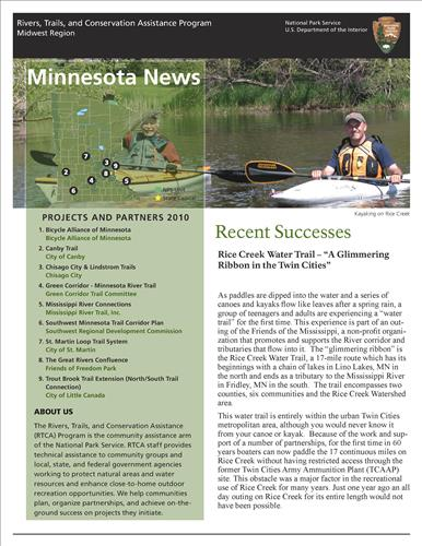 RTCA 2010 Minnesota News. This brochure provides information about the current projects and recent successes.