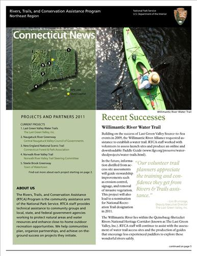 RTCA 2011 Connecticut News. This brochure provides information about the current projects and recent successes.