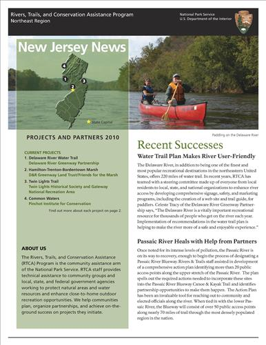 RTCA 2010 New Jersey News. This brochure provides information about the current projects and recent successes.
