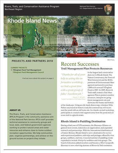 RTCA 2010 Rhode Island News. This brochure provides information about the current projects and recent successes.