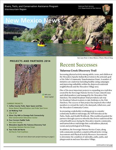 RTCA 2014 New Mexico News. This brochure provides information about the current projects and recent successes.