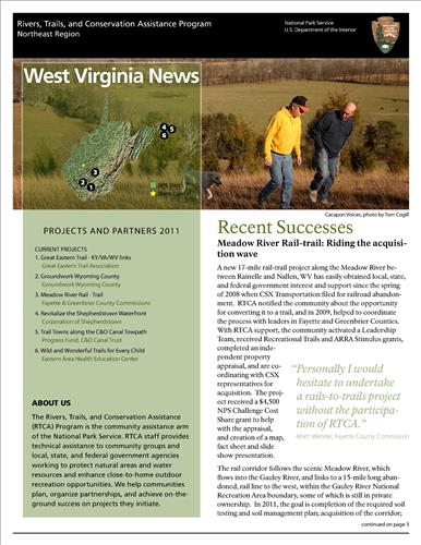 RTCA 2011 West Virginia News