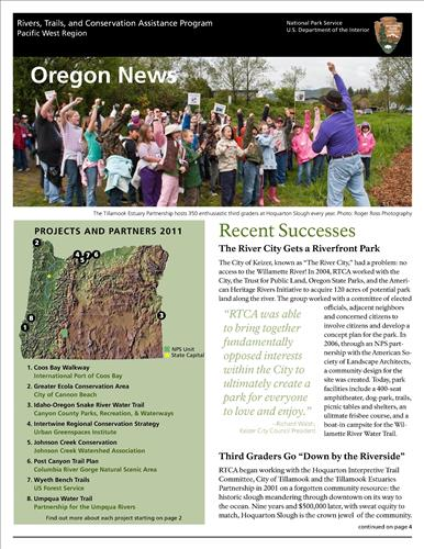 RTCA 2011 Oregon News
