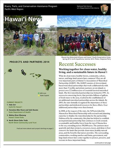 RTCA 2014 Hawai'i News. This brochure provides information about the current projects and recent successes.