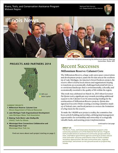 RTCA 2014 Illinois News. This brochure provides information about the current projects and recent successes.