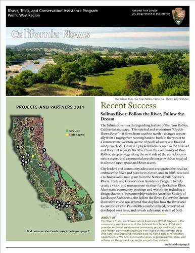 RTCA 2011 California News. This brochure provides information about the current projects and recent successes.