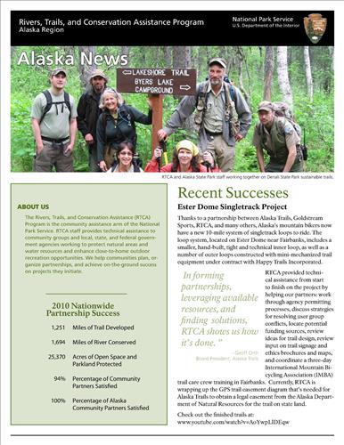 RTCA 2011 Alaska News. This brochure provides information about the current projects and recent successes.