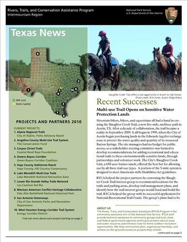 RTCA 2010 Texas News. This brochure provides information about the current projects and recent successes.