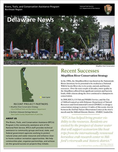 RTCA 2011 Delaware News. This brochure provides information about the current projects and recent successes.