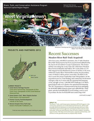 RTCA 2013 West Virginia News