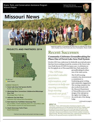 RTCA 2014 Missouri News. This brochure provides information about the current projects and recent successes.