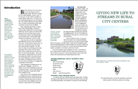 Giving New Life to Streams in Rural City Centers. An educational brochure developed in partnership with the city of Caldwell, Idaho. The publication profiles several small communities that opened and restored streams that had been buried for decades under their downtown streets