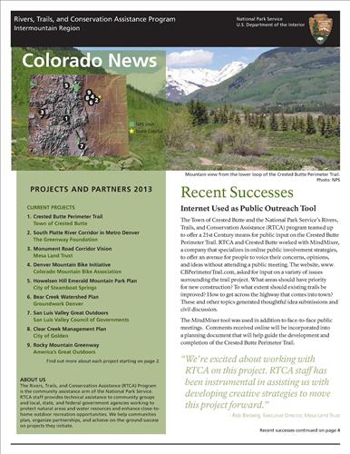 RTCA 2013 Colorado News