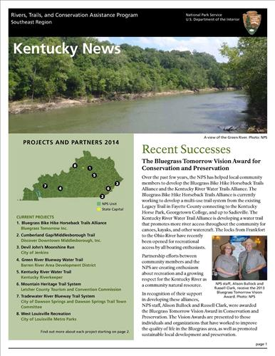 RTCA 2014 Kentucky News. This brochure provides information about the current projects and recent successes.