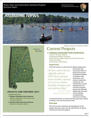 RTCA 2011 Alabama News. This brochure provides information about the current projects and recent successes.