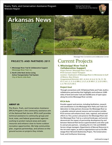 RTCA 2011 Arkansas News. This brochure provides information about the current projects and recent successes.