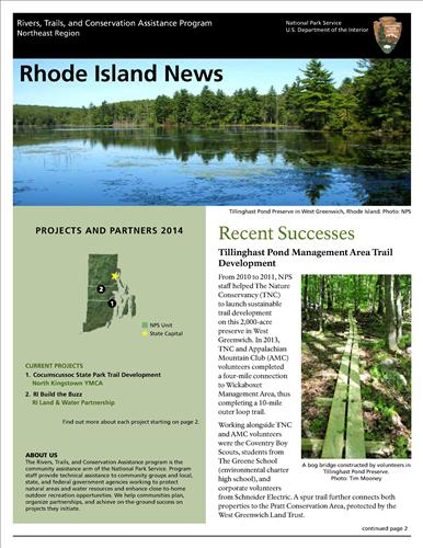 RTCA 2014 Rhode Island News. This brochure provides information about the current projects and recent successes.