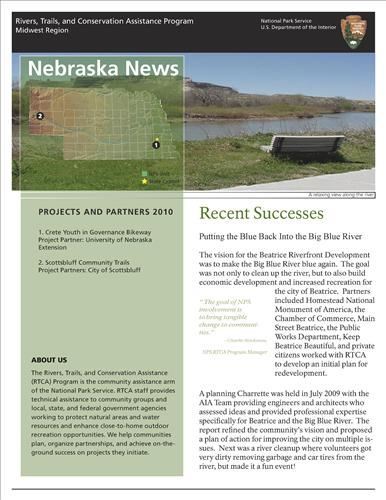 RTCA 2010 Nebraska News. This brochure provides information about the current projects and recent successes.