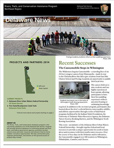 RTCA 2014 Delaware News. This brochure provides information about the current projects and recent successes.