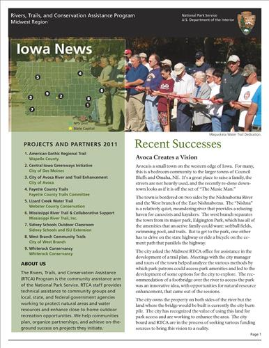 RTCA 2011 Iowa News. This brochure provides information about the current projects and recent successes.