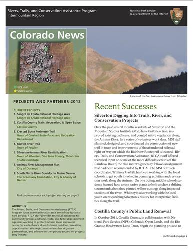 RTCA 2012 Colorado News