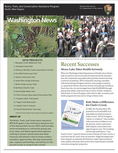 RTCA 2010 Washington News. This brochure provides information about the current projects and recent successes.